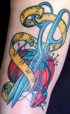 Miss Sews-it-all Sewing Tatoo  Just one of the 12 signs you are addicted to sewing