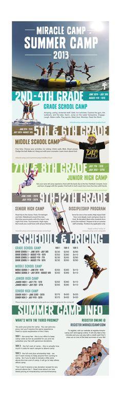 Summer Camp Brochure 2013 by Jared Rauh, via Behance