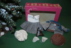 RARE 1950s Ginny Tagged Houndstooth Dress & Jacket Outfit MINT & MIB!
