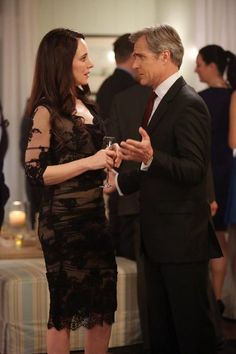 """Madeleine Stowe and Henry Czerny in Revenge - """"Engagement"""" Revenge Season 2, Revenge Cast, Revenge Tv Show, Emily Thorne, Victoria Grayson, Revenge Fashion, Old Shows, Fashion Tv, Celebs"""