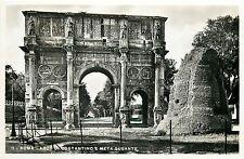 Italy 1930s Real Photo Postcard Roma Rome - Arco di Constantino e Meta Sudante