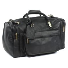 ClaireChase Classic Sports Valise Duffel Bag - Black - 316-BLACK