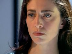 Faye: strong features, like the ever-lovely Claudia Black.  Not her coloring at all, though.  I love that this woman has a nose!