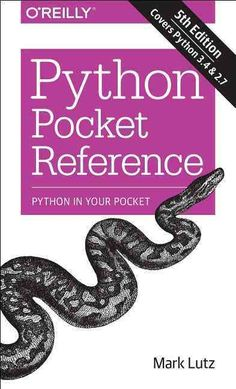 Updated for both Python 3.4 and 2.7, this convenient pocket guide is the perfect on-the-job quick reference. Youll find concise, need-to-know information on Python types and statements, special method