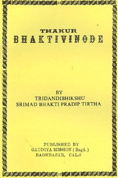 Gaudiya Mission offers religious books on thakur bhakti vinode at online stores
