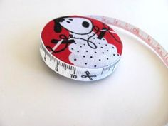 Sheep Knitting Fabric Tapemeasure by AllAboutTheButtons for $6.50