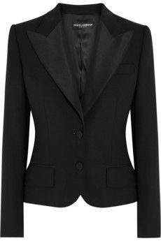 Dolce & Gabbana Faille-trimmed wool-blend jacket | NET-A-PORTER