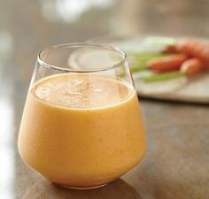 Carrot, Orange and Apple Juice (yield: 3 c (720 ml)) (1/2 cup (120 ml) cold water; 1 orange, including white part of peel, quartered; 1/2 apple, seeded, halved; 1/2 inch (1.3 cm) slice of pineapple, core included; 1 medium carrot, halved or about 1/3 cup chopped, 1 cup (240 ml) ice cubes) #drink