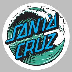 Santa Cruz Sticker Decal vinyl snowboard clothing skateboard surf graphic wave