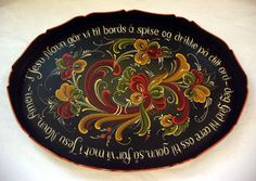 Telemark Rosemaling (with Norwegian table prayer)