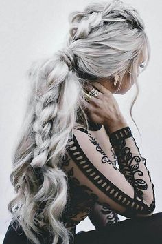 braid, hair, and hairstyles image