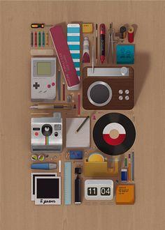#vintage #oldstyle #polaroid #vinile #gomma #matita #blocknotes #gameboy #righello #sigaretta
