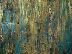 Shades of Sapphire, 16x20, acrylic mixed-media on canvas, hangs vertically or horizontally