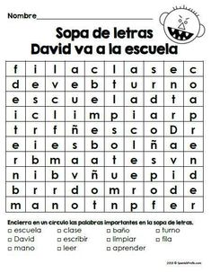 Activity of Good and Bad decisions sort in Spanish in goes with a 'David va a la escuela' activity pack with worksheets, sopa de letras, activities and writing for back to school in Spanish in kindergarten, first and second grade.