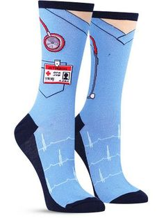 Paging Dr. Fun Socks, I repeat… paging Dr. Fun Socks. We have an emergency in rooms 5-10. These colorful medical socks have made the patients go crazy! Do your civic duty and help those patients- but