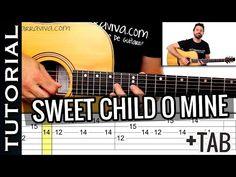 Como tocar Sweet Child O Mine En guitarra Acústica - YouTube