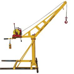 This Mini Construction Crane is not a mini tower crane with fixed foundation but a portable mini crane for construction.