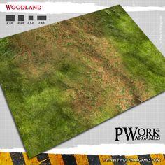 Woodland gaming mat
