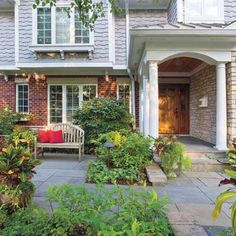 adirondacks patios lights and front yards - Front Yard Patio Ideas