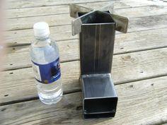 Wood Burning Rocket Stove for camping hunting by ironoflife