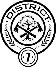 Tribute Von Panem Film, Hunger Games Logo, Hanger Game, Hunger Games Districts, 7 Logo, Catching Fire, Mockingjay, Rwby, Painting Inspiration