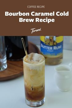 Our Bourbon Caramel Cold Brew Recipe uses Torani Bourbon Caramel Syrup, cold brew, chilled, Ice, and Half & Half. Learn how to make caramel cold brew at home with our easy caramel cold brew recipe. This at home cold brew recipe is delicious and easy to make. Make your at home caramel cold brew here! | Cold Brew Recipe | Caramel Cold Brew