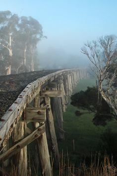 Meeniyan Trestle Bridge, Gippsland, Australia