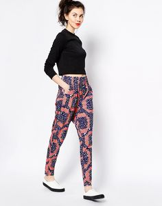 Monki+Printed+Casual+Bottoms