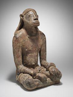 Sitzende Figur Djenne, Mali Terrakotta. H 48,5 cm.