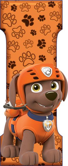 *✿**✿*I*✿**✿*DE ALFABETO DECORATIVO Paw Patrol Badge, Zuma Paw Patrol, Paw Patrol Toys, Paw Patrol Party, Paw Patrol Birthday, Fourth Birthday, Baby Boy Birthday, 2nd Birthday Parties, Paw Patrol Decorations