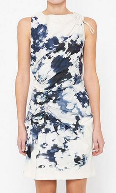 Thakoon Blue & White Dress