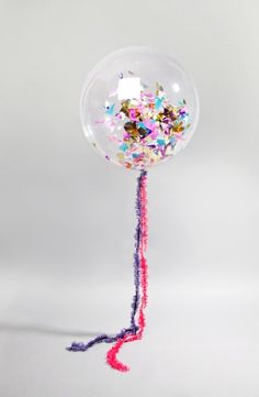 Love these confetti filled balloons