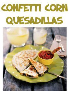 Confetti Corn Quesadillas Recipe!  {you'll love this delicious, hearty twist on quesadillas!} #recipes