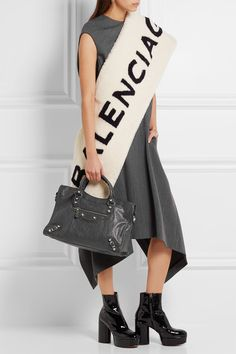 Balenciaga - Giant 12 City Textured-leather Tote - Gray - one size