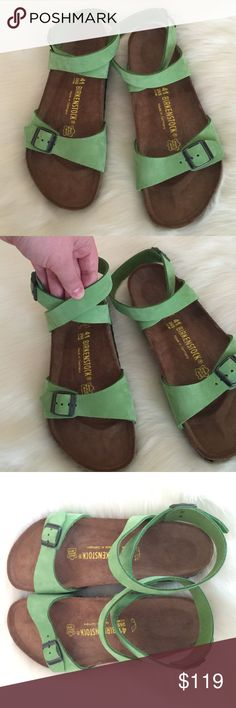 """NEW! BIRKENSTOCK 🎀 ANKLE STRAP SANDALS, 10, 41 New without tags!  Gorgeous!  Great gift idea!  Labeled a size 41 (L10, M8). I have heard Birks can run large, but I think it depends on your personal fit.  11"""" heel to toe. 💗💗💗 AX Birkenstock Shoes Sandals"""