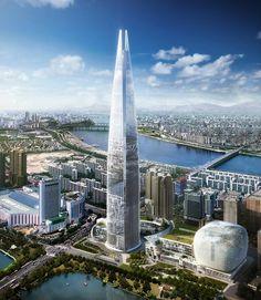 Lotte World Tower - Seoul South Korea - 555 m - 123 floors - 2016
