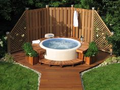backyard privacy tub