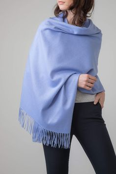 18933a4dc CORNFLOWER CLASSIC CASHMERE STOLE - SPRING SUMMER 2019 Our Cashmere Stoles  are the ultimate in luxury