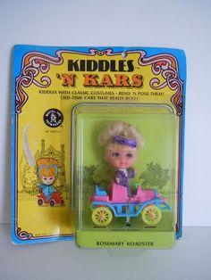Vintage 1968 Kiddles 'N Kars Rosemary Roadster NRFC