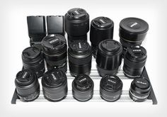 LensRacks is to gear hoarders what wine racks are to wine aficionados. It's a new storage system that helps you keep all your camera lenses and accessories organized in one place and easy to access.
