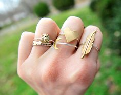 Stacked rings! Love it!