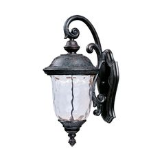 Maxim Carriage House LED-Outdoor Wall Mount (Oriental Bronze - Water Glass), Brown