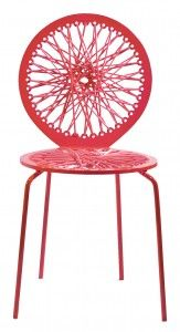 Pink stretch chair, Jessica Carnevale