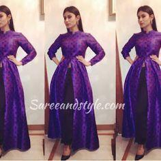 Raveena Tandon in Silk Suit - Saree and Style