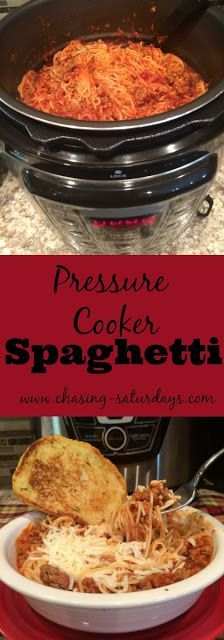 Pressure Cooker Spaghetti More