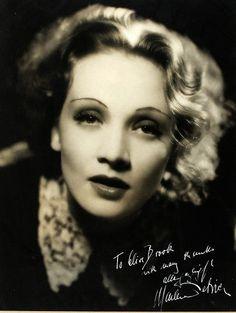 Still of Marlene Dietrich inscribed by Marlene to her Shanghai Expressco-star.