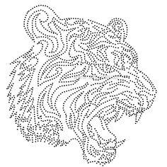 Sumatraanse tijger | Tijgers, Leeuwen, Luipaard, Cheetah | glittermotifs String Art Patterns, Mosaic Patterns, Pattern Art, Dot Painting, Ceramic Painting, Painting Patterns, Paper Animals, Art Template, Templates