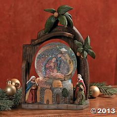 Nativity Snow Globe, Decorative Accessories, Home Decor - Terry's ...