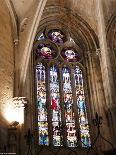 Vidireras. Catedral de Palencia. Stained glass. Cathedral of Palencia Spain