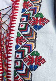 Stefka Gorgorova Geometric Embroidery, Sashiko Embroidery, Folk Embroidery, Cross Stitch Embroidery, Cross Stitch Patterns, Bargello Patterns, Textile Patterns, Needlepoint, Needlework